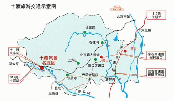 十渡旅游交通图