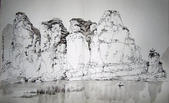 速写山水风景图片 中国最美山水风景图片山水风景